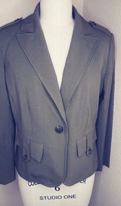 Army green womens blazer